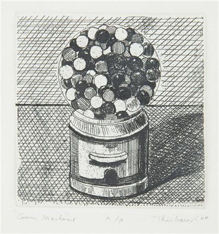 gum machine from delights portfolio by wayne thiebaud