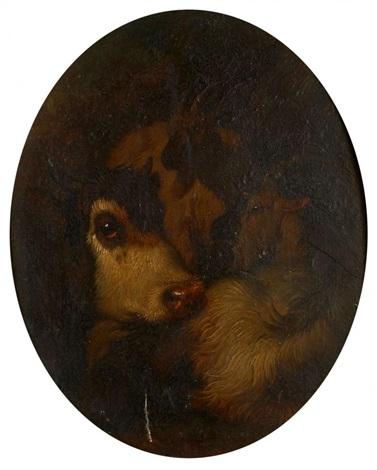 vache et deux chèvres by francesco londonio