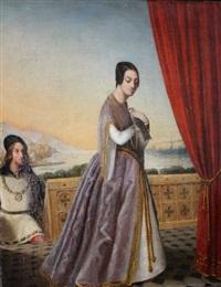 femme à la colombe by romain cazes