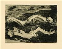sterben (from tiere und menschen) by hans grundig