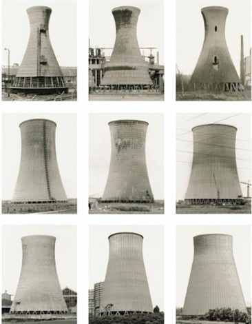 tours de refroidissement in 9 parts by bernd and hilla becher