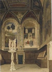 intérieur de la libreria piccolomini, dans la cathédrale de sienne by gabriel auguste ancelet