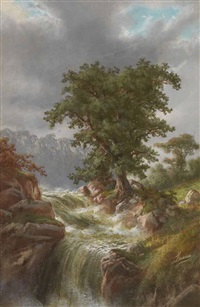 landscape by alexander françois loemans