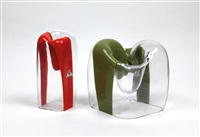fasce glass objects (pair) by carlo nason