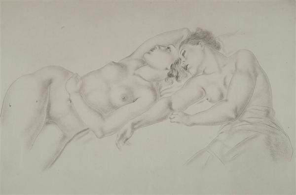 deux nus allongés by léonard tsuguharu foujita