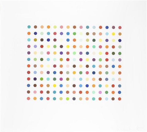 pyronin y by damien hirst