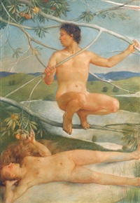 adam et eve by charles-louis rivier
