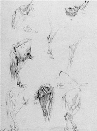 studies of a donkey by jean-françois legillon