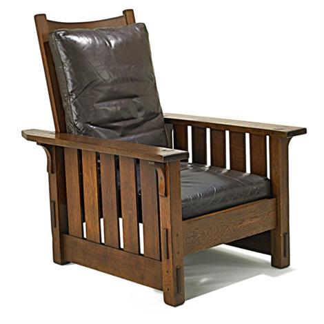 Remarkable Morris Chair No 332 By Gustav Stickley On Artnet Machost Co Dining Chair Design Ideas Machostcouk