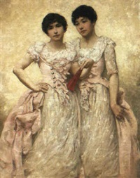 gertrude and florence konstam by constance selous