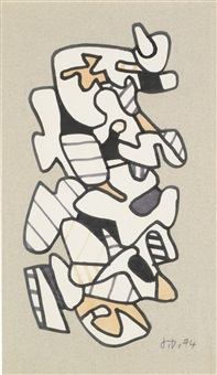 collage p541 by jean dubuffet