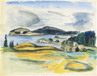 maine inlet by fairfield porter