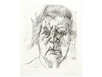 the painter's mother (final version) by lucian freud