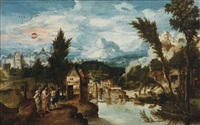 the journey to emmaus by herri met de bles