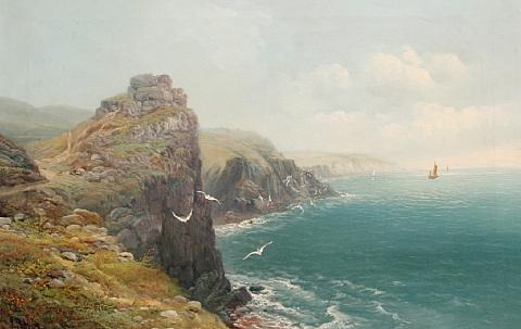 coastal view on a summers day by jb allan