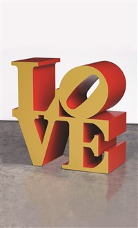 love (金/紅色) (love (gold/red)) by robert indiana