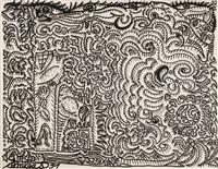 dessin avec barbu et grotesques mélangés by robert combas