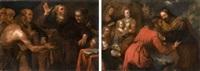 la réconciliation de jacob et esaü (+ scène de l'ancien testament; pair) by giovanni andrea de ferrari