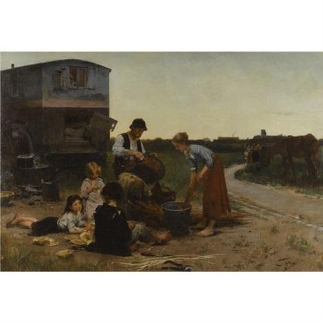 les vanniers by henry jules jean geoffroy