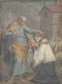 the sacrament of ordination - a bozzetto by gaetano gandolfi