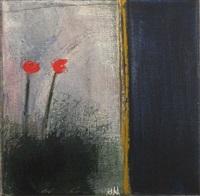 red flowers by salah alkara