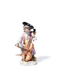 monkey band figure of the cellist by johann joachim kändler and peter reinicke