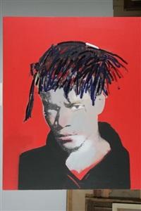 portrait de jean-michel basquiat by victor hasch
