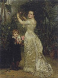 portrait of elizabeth cavendish and her son tyrell by mary lemon waller