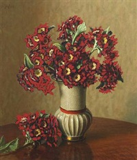 a bouquet of red flowers by wilhelm andersen