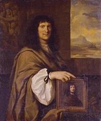 portrait of a man holding a portrait by charles alphonse dufresnoy