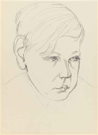 head of a boy by lucian freud
