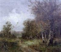 chasseurs dans le sous-bois by edma morisot