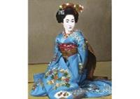 blue kimono by kunio komatsuzaki