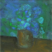 a pot of flowers by harry reid