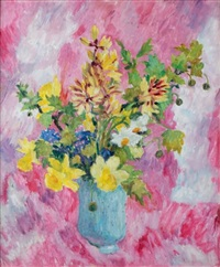 vase de fleurs aux jonquilles by marie-lucie nessi-valtat