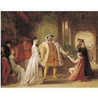 henry viii's first interview with anne boleyn by daniel maclise