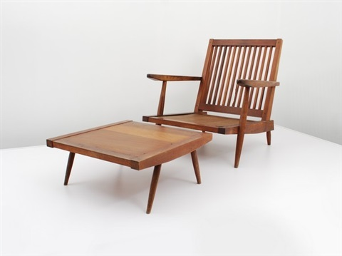 Arm Chair (+ Ottoman; 2 Works) By George Nakashima