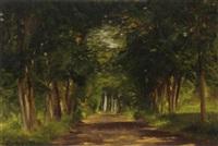 forest scape by alexander dmitrievich litovchenko