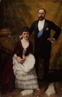 king edward vii and queen alexandra by amedee forestier