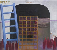 in vino veritas (diptych) by anders lindgren