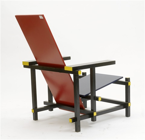 fauteuil model red blue chair by gerrit rietveld
