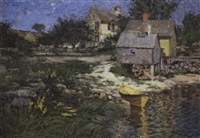 river shed with lobster traps by henry rodman kenyon