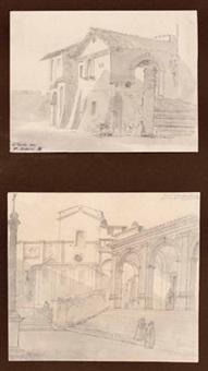 kirche s. maria in aracaeli in rom (+ zwei mittelalterliche häuser, smllr; 2 works) by maria electrina von freyberg