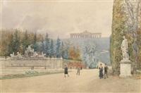 parterre im schönbrunner schloßpark by franz kopallik
