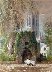 canterbury cathedral by albert fitch bellows