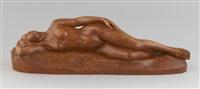 jeune femme nue allongée by maurice de korte
