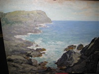 peaceful coast scene on monhegan isle by winfield scott clime