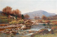 a river landscape by george drummond fish