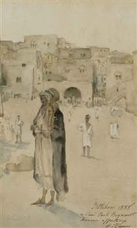 bédouins à l'entrée de béthléem by hector jean baptiste espouy