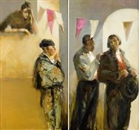 dyptyk: dwóch pikadorów i torreador (diptych) by michal zaborowski